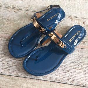 Coach blue sandals size 7.5
